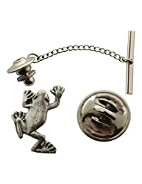 Tree Frog Tie Tack ~ Antiqued Pewter ~ Tie Tack or Pin ~ Sarah's Treats & Treasures