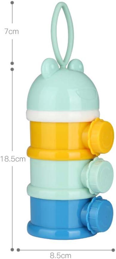 Baby Milk Powder Dispenser Baby Milk Powder Packaging Box Layered Storage Box Snack Storage Container Pink 1pc
