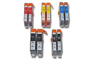 vhbw 10x Cartuchos para impresora cartuchos de tinta con Chip para HP Hewlett Packard Photosmart C5370, C5373, C5380, C5383, C5388, C5390 por HP364XL.