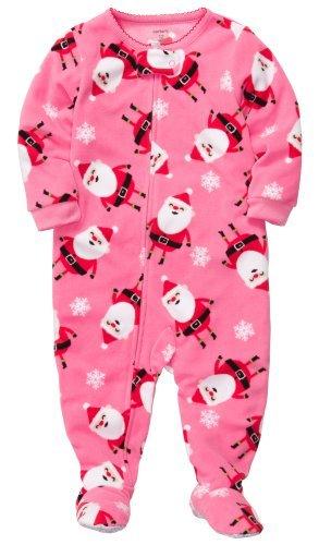carters girls 1 piece micro fleece christmas pajamas 2t 10 4t