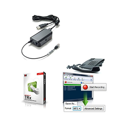 TRx Professional USB Telephone Call Recording (Phone Recording Adapter)