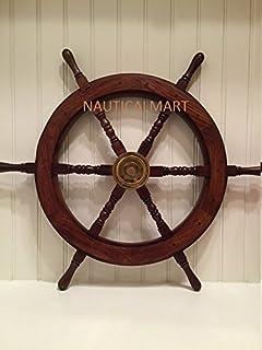 Amazon ship wheel ships steering wheel boat wheel pirate ship 30 ship wheel wooden pirate boat nautical fishing mozeypictures Images