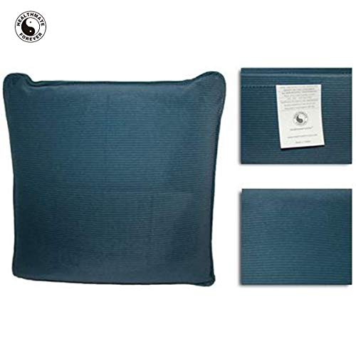 HealthmateForever Pressure Activated Massage Pillow (Slate Blue) HealthmateForever High Quality Pulsating Vibrating Relaxation Pillow | Can be Used as a Sciatica Nerve Cushion to Treat Sciatic Pain
