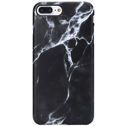 iPhone 7 Plus Case for Men,iPhone 8 Plus Case Black Marble,VIVIBIN Cute Clear Bumper Soft Silicone Rubber Matte TPU Best Protective Cover Slim Fit Phone Case for iPhone 7/8 Plus