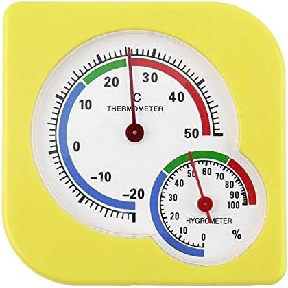 JICHUI Innen Außen Hygrometer-Feuchtigkeits-Thermometer-Temperatur-Meter-Messgerät Mini A7 Gourd Shaped Clock-förmige