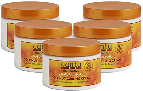 Cantu Shea Butter for Natural Hair Coconut Curling Cream 12 oz. (Pack of 5)