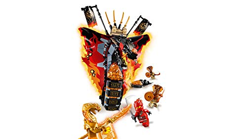 LEGO NINJAGO Fire Fang 70674 Snake Action Toy Building Set with Stud Shooters and Ninja Minifigures Characters, Perfect for Group Play (463 Pieces)