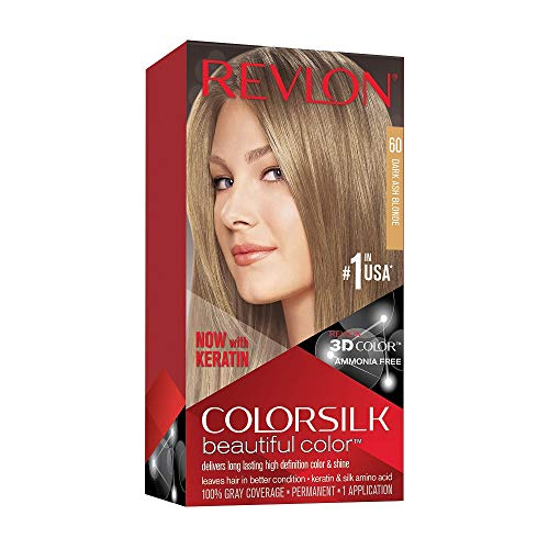 🥇 Revlon ColorSilk Tinte de Cabello Permanente Tono #60 Rubio Cenizo Oscuro