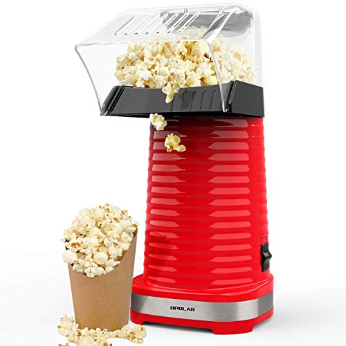 Best Price! Hot Air Popcorn Maker, Popcorns Machine, Home-Made Healthy Hot Air swirling Popcorn Popp...
