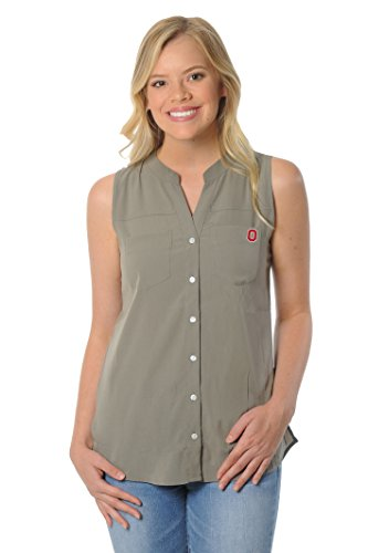 UG Apparel NCAA Ohio State Buckeyes Women's Tunic Tank Top, Small, (Ohio State Buckeyes Pocket)