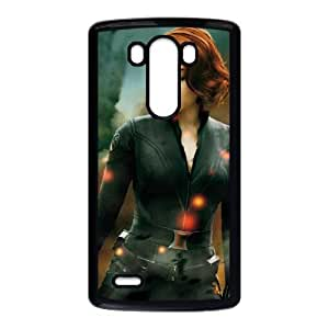 Popular And Durable Designed TPU Case with Black Widow For LG G3 Cell Phone Case Black