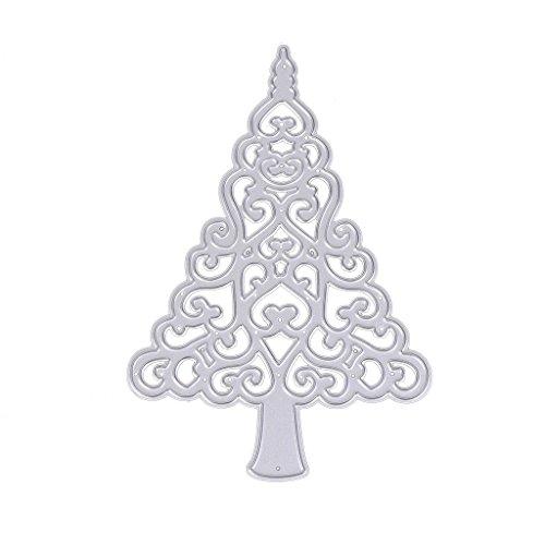 dairyshop adornos navideños Cutting Dies L árbol de Navidad del árbol de corazón talla I moldes moldes delle Muffe L impresso de álbum de recortes ...