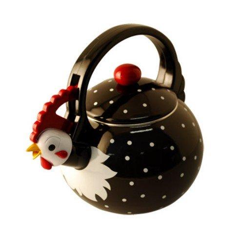 Home-X Rooster Tea Kettle, 2 Quart Whistling Teakettle