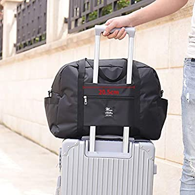Large Capacity Fashion Travel Bag for Man Women Bag Travel Carry on Luggage Bag (Black) at Women's Coats Shop