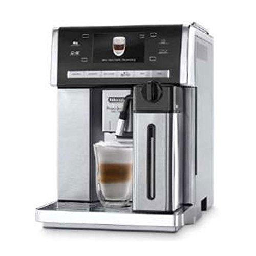 Delonghi super-automatic espresso coffee machine with double boiler, milk frother, chocolate maker for brewing espresso, cappuccino, latte, macchiato & hot chocolateESAM6900M Primadonna