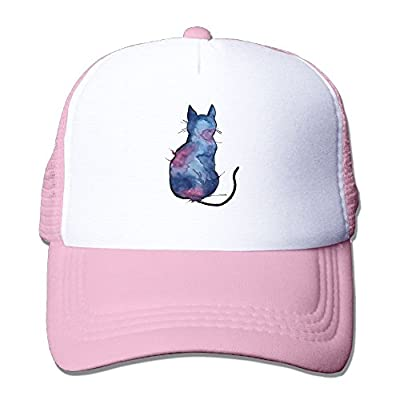 Graphic Cat Sports Snapback Stylish Baseball Cap Mesh Trucker Hat from Huishe1