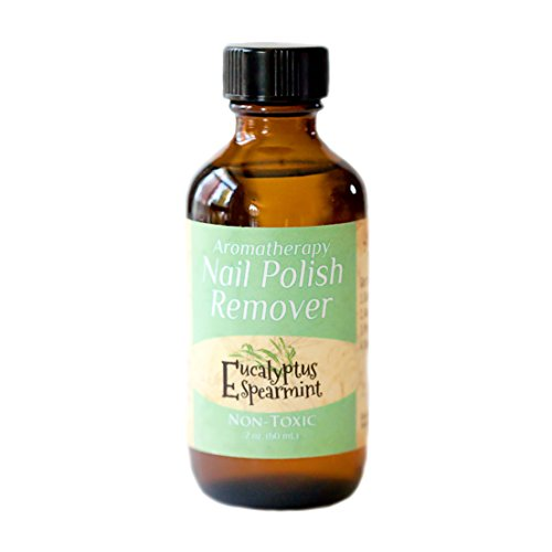 Non-toxic, Natural, Aromatherapy Nail Polish Remover - Eucalyptus Spearmint (Stress Relief) 4 oz. (Pure Cotton Pastel)