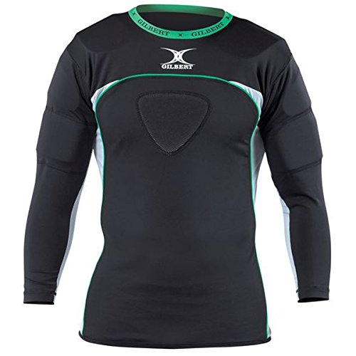 Gilbert Atomic Thermo Rugby Long Sleeve Shoulder Protector (Medium) GIL272LS-MD