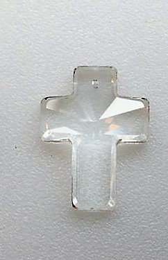 Crystal Cross Prism Pendant 40mm