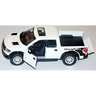 White 2013 Ford F-150 SVT Raptor Supercab 5-inch Pickup Truck with Sunroof + Pullback Action 1/46 Scale: Toys & Games