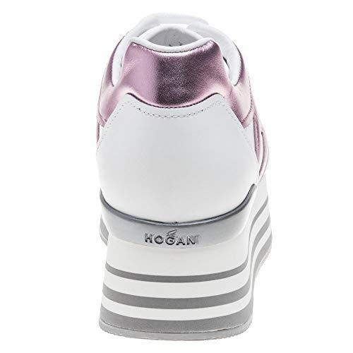 Maxi Bianco H222 Sneaker Pelle In qpnH0xPd0