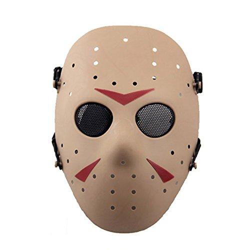 Máscara de Jason de Haoyk CS Games, máscara de malla, metal y cobre con protección completa de la cara, para Halloween, fiestas de disfraces, ...