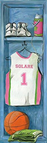 Girl's Basketball Locker by Joni Segarra - Personalized Canvas Wall Art
