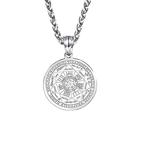 (ZONICTA Jewelry Stainless Steel The Seal of The Seven Archangels Pendant Necklaces with Gift Bag)