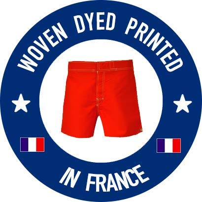 Bayahibe Swimwear Short Slim Fit Quick Dry French Swim Trunk for Men Red Butterflies Print