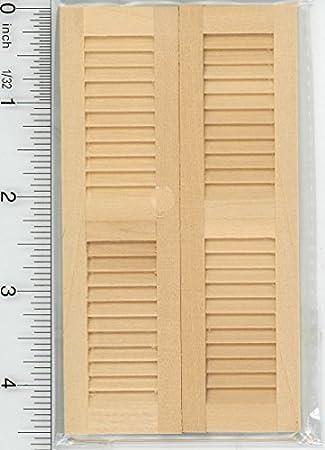12 Packs 1//12 Scale Miniature Blind Windows Shutters Dolls House Ornament