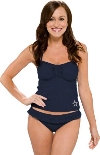 32d8c3cb14 Amazon.com   Dallas Cowboys Women s Tankini Swimsuit   Fashion Tankini  Swimsuits   Sports   Outdoors
