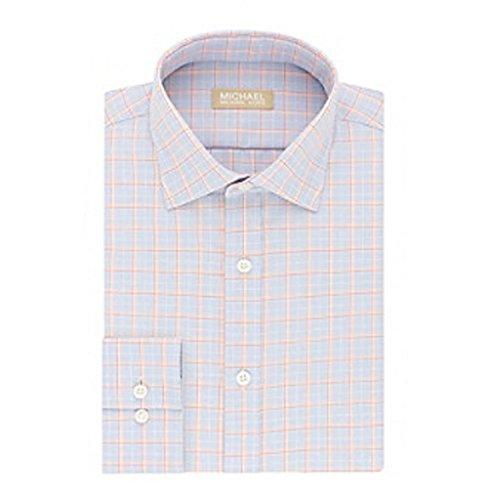 Michael Michael Kors Mens Regular Fit Glen Plaid Dress Shirt 17 1/2 34-35