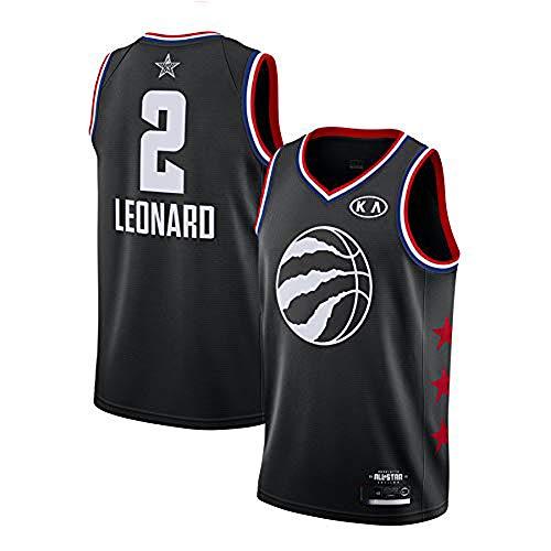 YDD Men's Jersey - NBA Raptors 2 Leonard Mesh Basketball Swingman Jersey Summer Embroidered Shirt Vest -