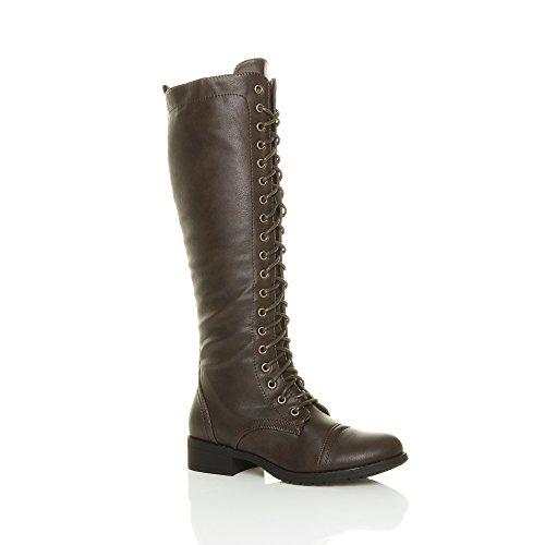 Brown Biker Boots For Women - 4
