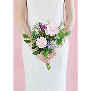 "Anemone and Dahlia Artificial Flower Bouquet in Pink - 16"" Tall 77"