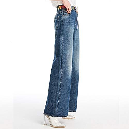 A Nuovi Bianchi Jeans Mvguihzpo Donna M Pantaloni Da Gamba Larga Donna Jeans Blue Deep Xl Larga wBRaB
