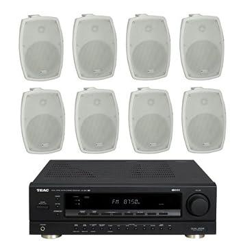 """4 pares de 4 """"30W RMS altavoces al aire libre con amplificador, bocinas"""