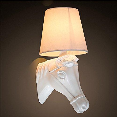 MMYNL Moderne E27 Antik Wandlampe Vintage Wandlampen Wandleuchten für Schlafzimmer Wohnzimmer Bar Flur Bad Küche Balkon Pferdekopf Lampe kreative Studie Tier Wandleuchte