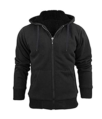 Stanzino Men's Thick and Warm Sherpa Lined Hoodie Sweater Jacket