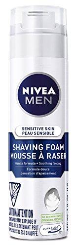NIVEA MEN Senstive Skin Shaving Foam, 200mL