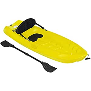 Best Choice Products 6ft Kids Kayak w/Bonus Paddle and Cushioned Backrest - Red