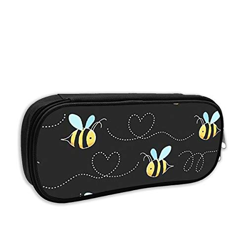 - Pencil Case - Yellow Bumblebee Pencil Pouch Stationery Organizer Multifunction Cosmetic Makeup Bag Perfect Holder for Pencils and Pens