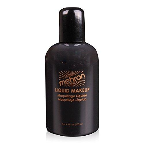 Mehron Makeup Liquid Face & Body Paint, BLACK – 4.5oz by Mehron