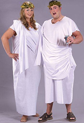 Ladies Toga Plus Size Costume for Roman Greek Egyptian Fancy Dress Outfit Adult by Partypackage Ltd (Ancient Greek Outfits)