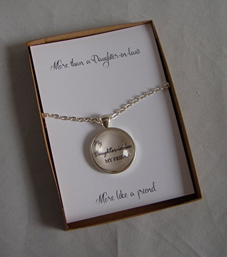 Daughter-in-law Pendant or Key Ring Gift Card, Personalised Birthday...