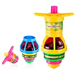 YoungRich 12 PCS Spinning Tops Flash Red Light Spin Topper Toy Gyro Toy Set Children Kid Toy Gift Party Favor 10x6x4cm Colorful