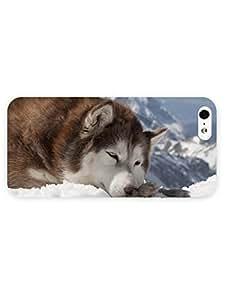 3d Full Wrap Case for iPhone 5/5s Animal Alaskan Malamute In The Snow wangjiang maoyi