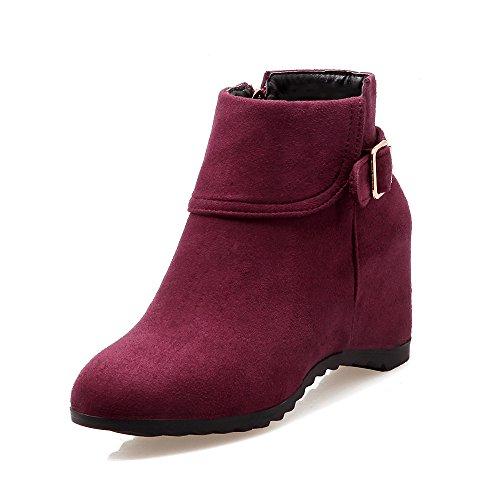 DYF Größe Gürtelschnalle Schuhe Reißverschluss Farbe kurze Kopf runden Stiefel rTfqx7rH