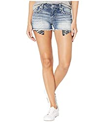 Women's Sequins Embellished Mid-Rise Shorts