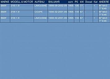 pour 316I 318I 1.9 SED/ÁN COUPE 105//118hp 1998-2002 ETS-EXHAUST 3131 Silencioso delantero